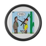 Scout Gardening Large Wall Clock