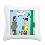 Scout Gardening Square Canvas Pillow