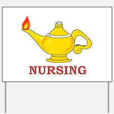 Nursing Lamp with Nursing Text Yard Sign