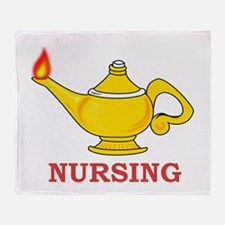 Nursing Lamp with Nursing Text Throw Blanket