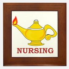 Nursing Lamp with Nursing Text Framed Tile