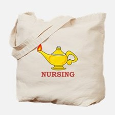 Nursing Lamp with Nursing Text Tote Bag
