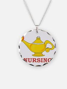 Nursing Lamp with Nursing Text Necklace