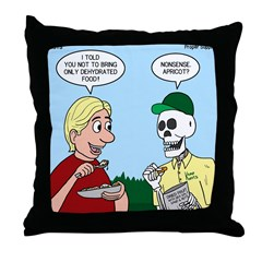 Dehydrated Food Throw Pillow