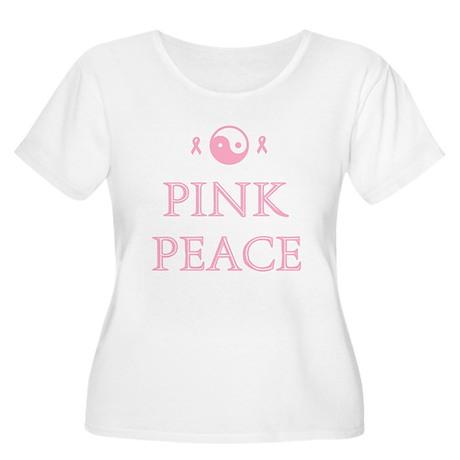 Pink Peace Women's Plus Size Scoop Neck T-Shirt