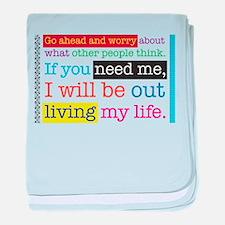 Live My Life baby blanket