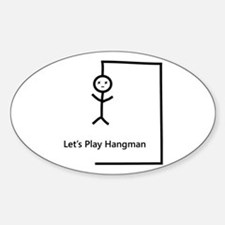 Let's Play Hangman Oval Decal