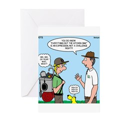 Backpack Overpack Greeting Card