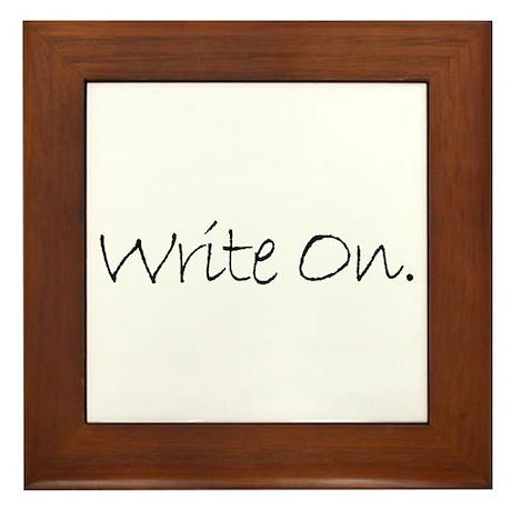 Write On (Ver 4) Framed Tile
