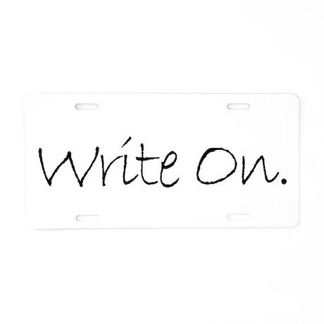 Write On (Ver 4) Aluminum License Plate