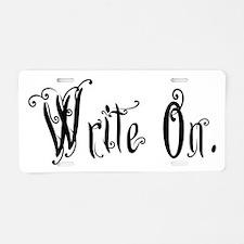 Write On (Ver 2) Aluminum License Plate