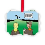 Semaphore Warning Picture Ornament