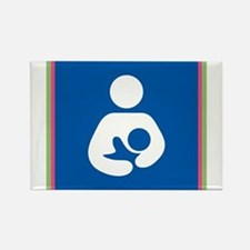 Brestfeeding Icon Rectangle Magnet