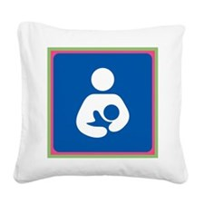 Brestfeeding Icon Square Canvas Pillow