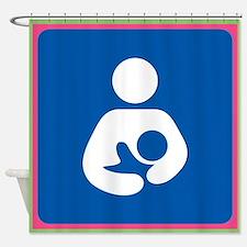 Brestfeeding Icon Shower Curtain