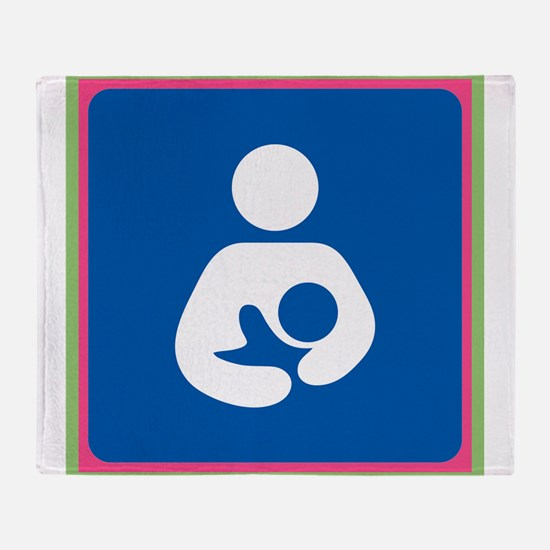 Brestfeeding Icon Throw Blanket