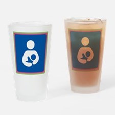 Brestfeeding Icon Drinking Glass