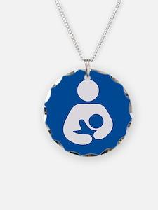 Brestfeeding Icon Necklace Circle Charm