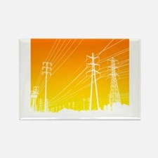 Power lines Rectangle Magnet