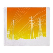 Power lines Throw Blanket