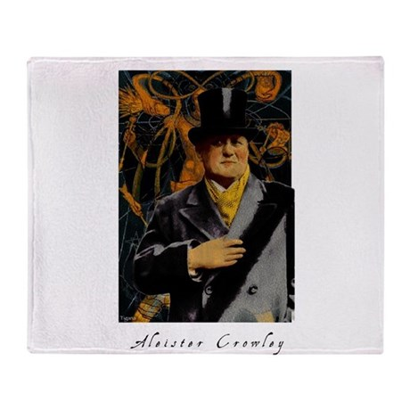Aleister Crowley Throw Blanket