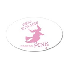 Pink Witch Wall Decal