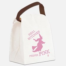Pink Witch Canvas Lunch Bag