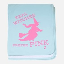 Pink Witch baby blanket