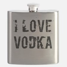 I LOVE VODKA Flask