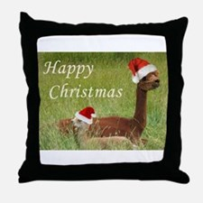 Mother and Baby Christmas Throw Pillow