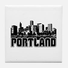 Portland Skyline Tile Coaster