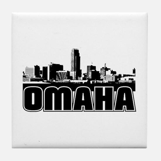 Omaha Skyline Tile Coaster