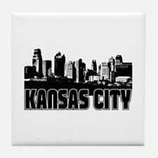 Kansas City Skyline Tile Coaster