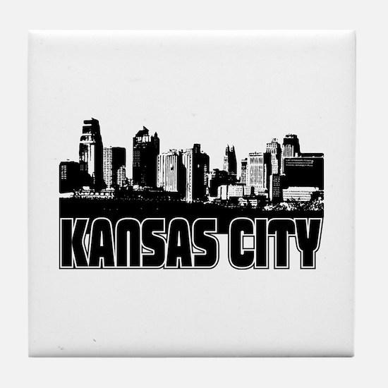 Kansas City Skyline Tile Coaster