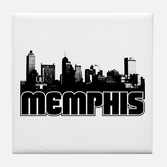 Memphis Skyline Tile Coaster