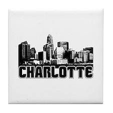 Charlotte Skyline Tile Coaster