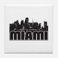 Miami Skyline Tile Coaster