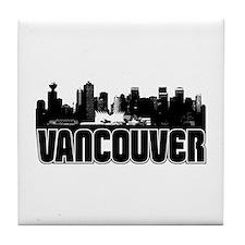 Vancouver Skyline Tile Coaster