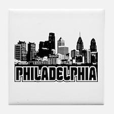 Philadelphia Skyline Tile Coaster
