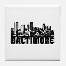 Baltimore Skyline Tile Coaster