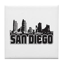 San Diego Skyline Tile Coaster