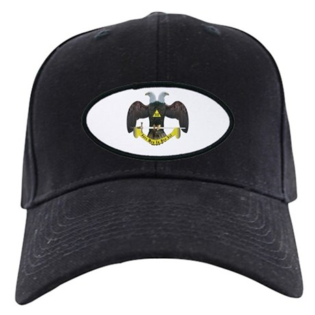 Masonic Scottish Rite 32nd Degree Black Cap