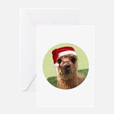 Little Hannah Christmas Alpaca Greeting Card
