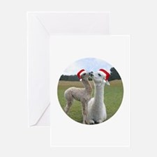 Mother and Baby Alpaca Christmas Card