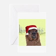Smiley Alpaca Greeting Card