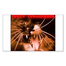 Ferocious Halloween Cat Decal