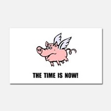 When Pigs Fly Car Magnet 20 x 12