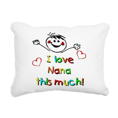 I Love Nana (Boy) Rectangular Canvas Pillow