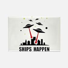 UFO Ships Happen Rectangle Magnet (10 pack)
