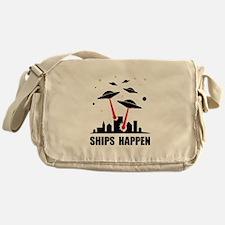 UFO Ships Happen Messenger Bag